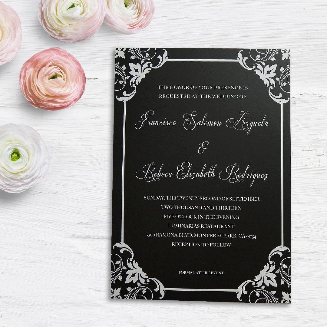 Classic Black Wedding Invitation – KTP Studio